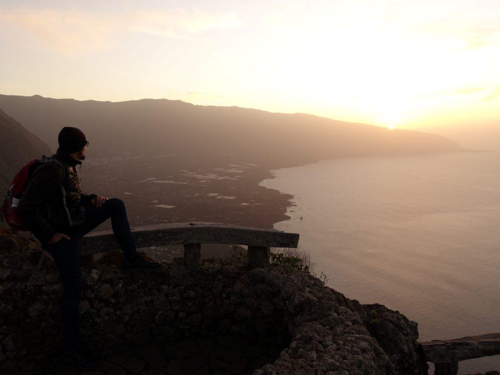 Sonnenuntergang Aussichtspunkt Mirador La Pena El Hierro Kanaren