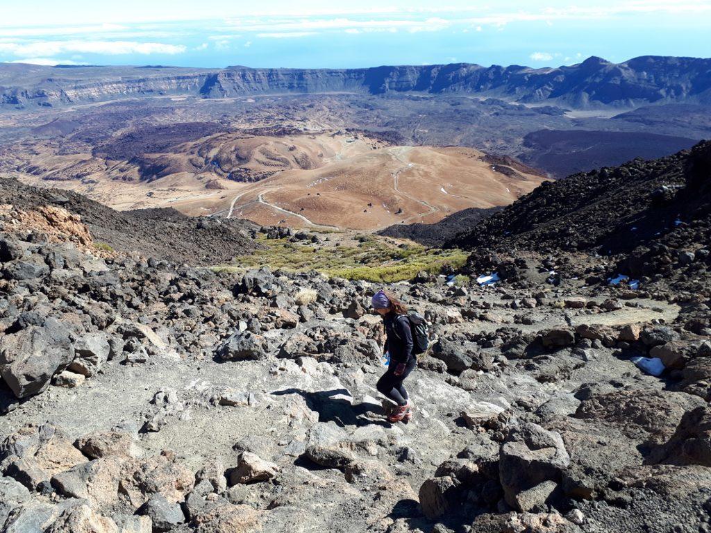 Trail Wanderweg Aussicht Pico del Teide Teneriffa Kanaren