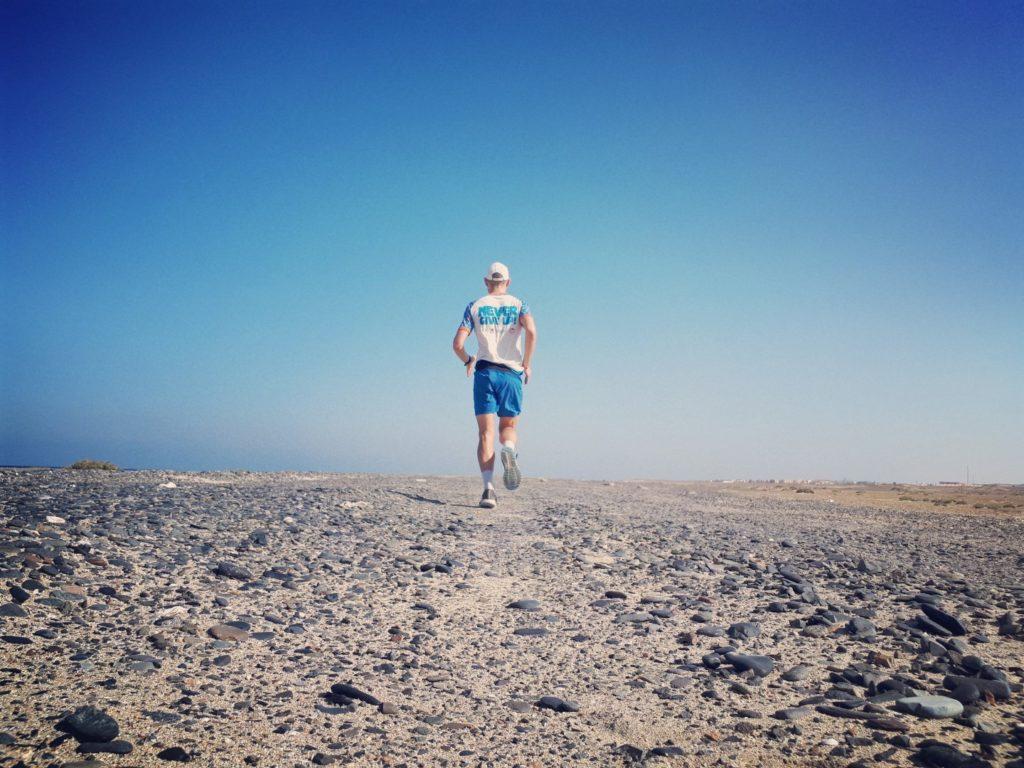 Laufen Wüste Straße Marsa Alam Ägypten