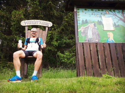 Wanderkönig Stuhl Rennsteig Thüringer Wald