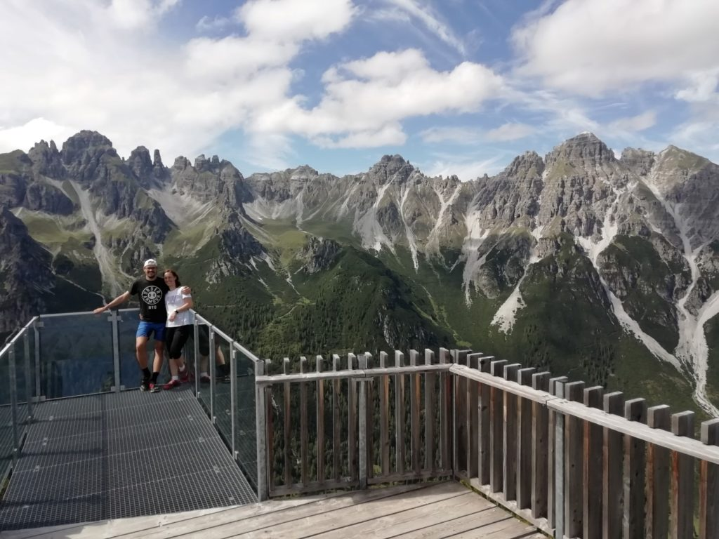 Aussichtsplattform Schlick Stubai Stubaital Österreich Alpen