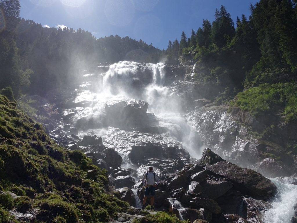 Grawa Wasserfall Stubai Stubaital Österreich Alpen