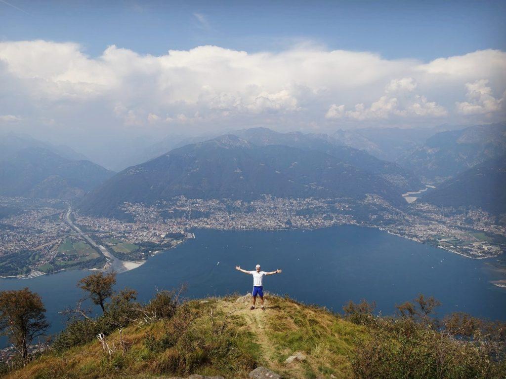 Blick Lago Maggiore Tessin Schweiz
