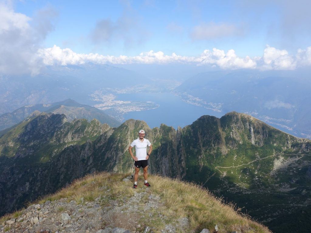 Monte Limidario Gipfel Tessin Schweiz Italien