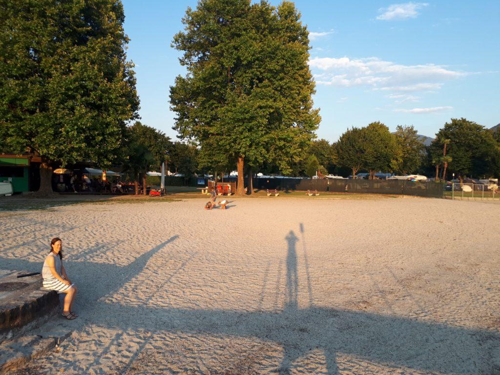Strand Campingplatz Lago Maggiore Tessin Schweiz