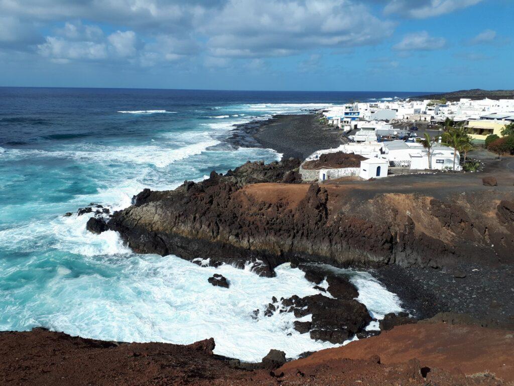 Küste Brandung El Golfo Lanzarote Kanaren