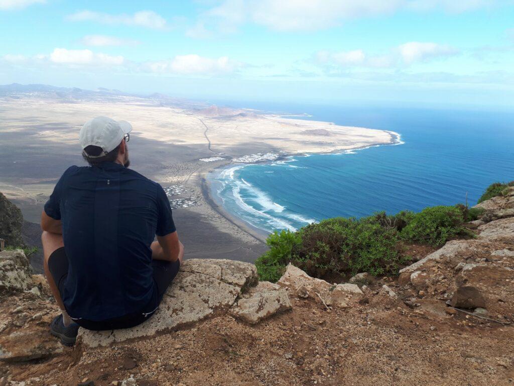 Aussichtspunkt Klippen Famara Lanzarote Kanaren