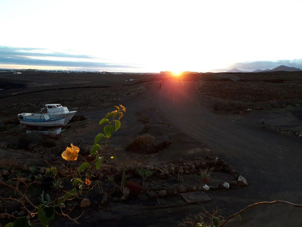 Sonnenuntergang Los Ancones Lanzarote Kanaren