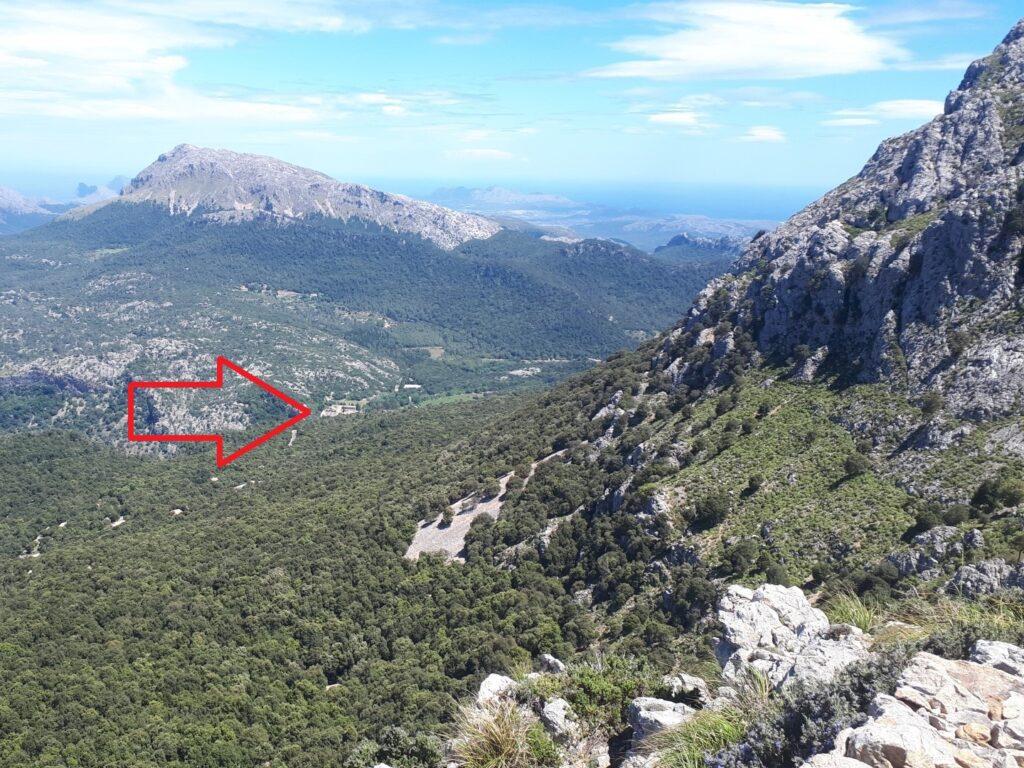 GR 221 Aussicht Kloster Lluc Tramuntana Mallorca