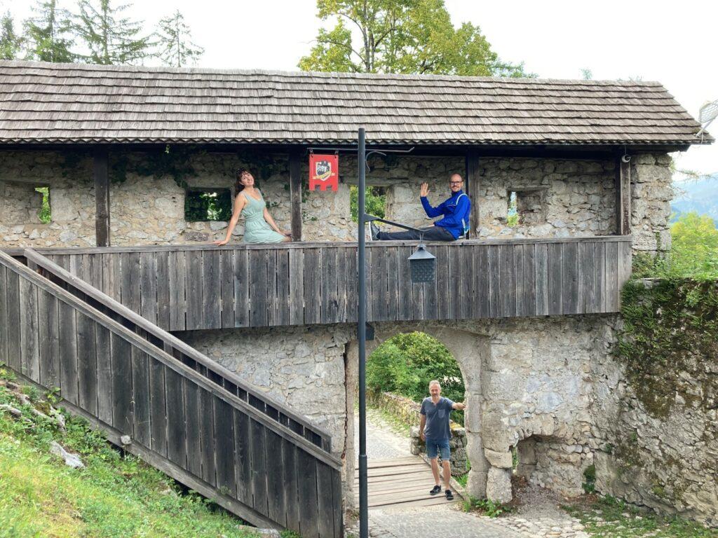 Eingang Burg Bled Slowenien