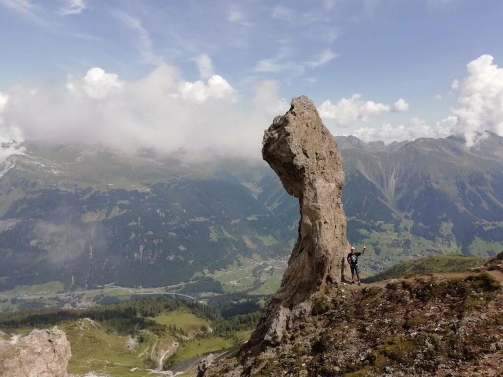 Felsen Casanna Schweiz