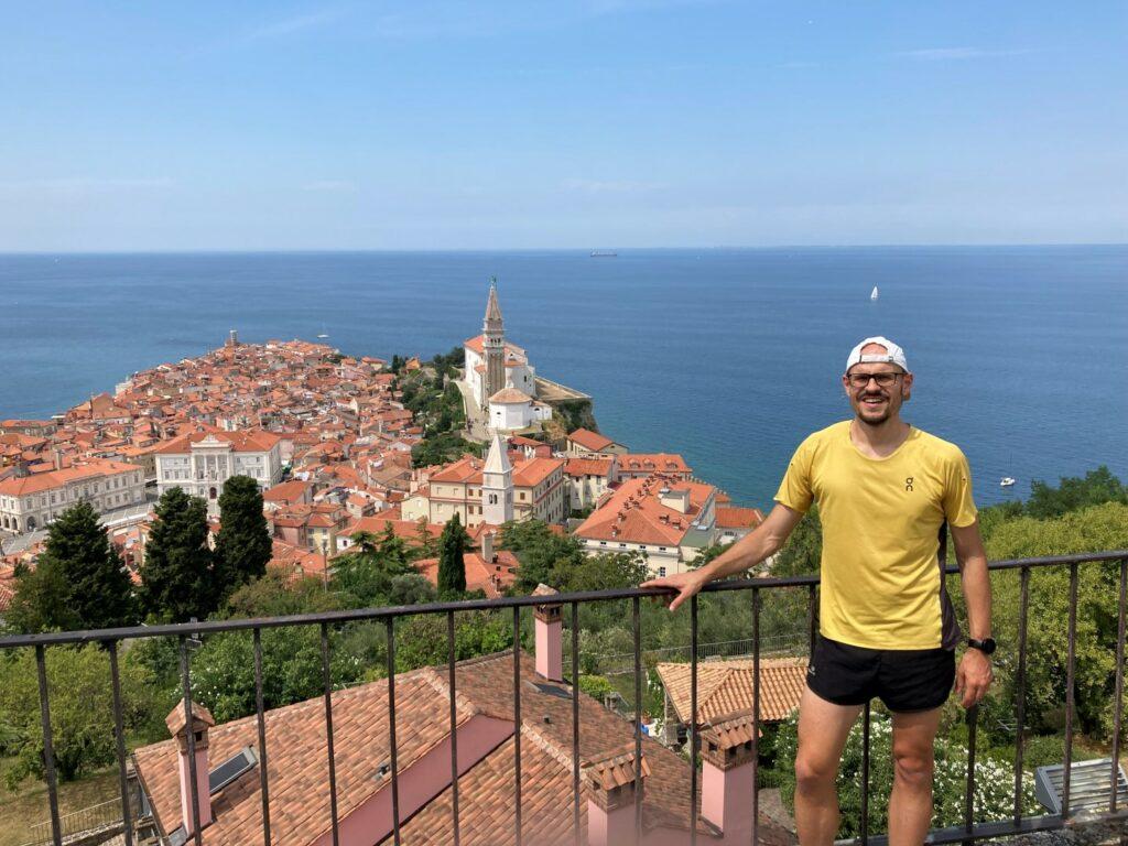 Aussicht Stadtmauer Piran Slowenien