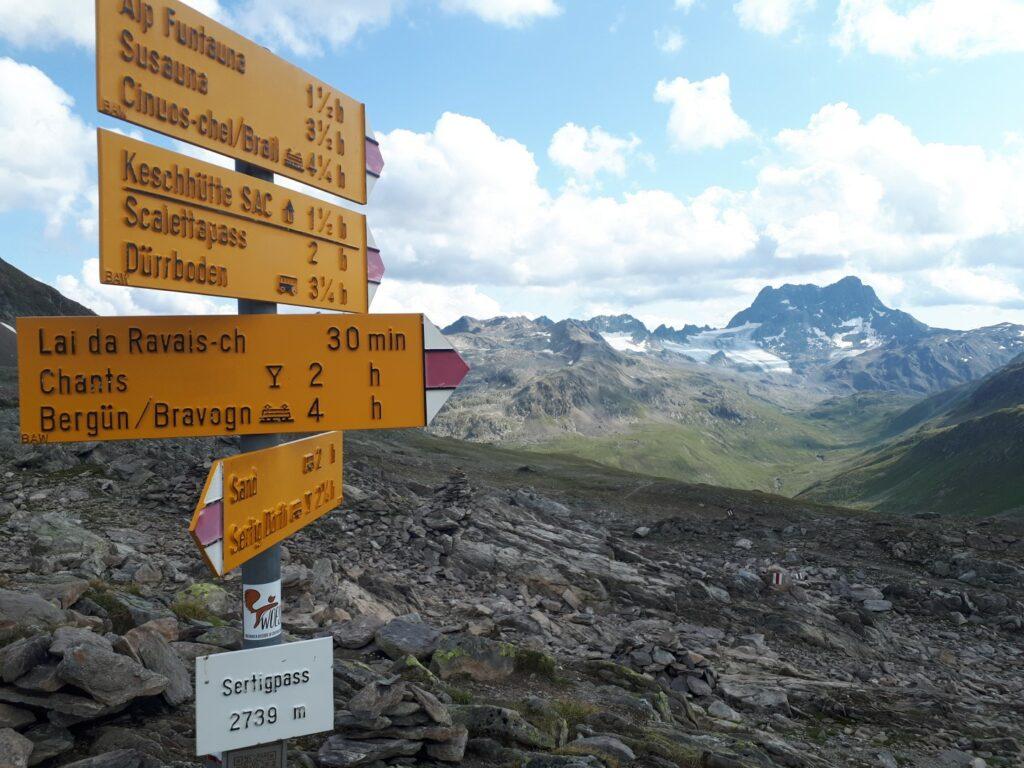 Sertigpass Piz Kesch Schweiz